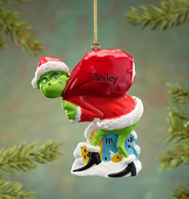New - Personalized Grinch Ornament