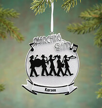 New - Personalized Marching Band Ornament