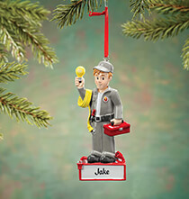 New - Personalized Electrician Ornament