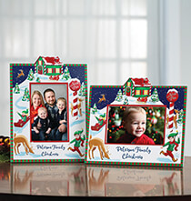 Personalized Christmas Break at the North Pole Frame   Custom Message Landscape