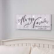 Miscellaneous Home Decor - Personalized Always & Forever Lighted Canvas