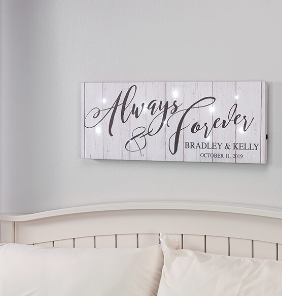 Personalized Always & Forever Lighted Canvas