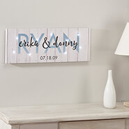 Miscellaneous Home Decor - Personalized Last Name Canvas