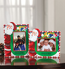 Top Gifts for Her - Personalized Santa's Christmas Bag of Presents Frame