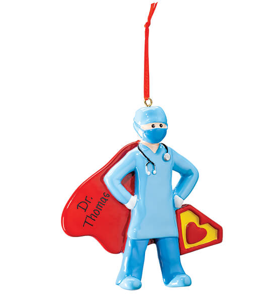 Personalized Super Doctor Ornament
