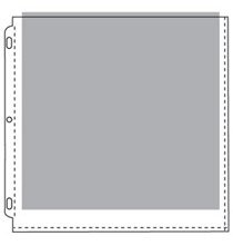 12 x 12 Sheet Protector with White Paper Inserts