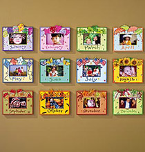 Whimsical Month Photo Frames