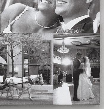 Wedding 5 Photo Custom Collage Canvas