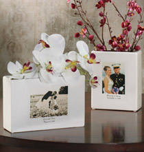 Wedding Custom Ceramic Photo Vase